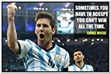 Messi Posters - Lionel Messi - FC Barcelona Sports Poster - Messi Posters for room -Messi Posters Barcelona - Motivational Inspirational football Quotes posters for room - 50