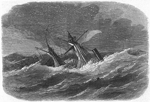 st-georges-channel-shipwreck-armenian-arklow-bank-antique-print-1865