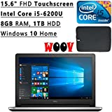 Dell Inspiron 15.6 Inch Full HD Touchscreen Laptop PC (Intel Core I5-6200U Dual-Core, 8GB DDR3, 1TB HDD, Backlit...