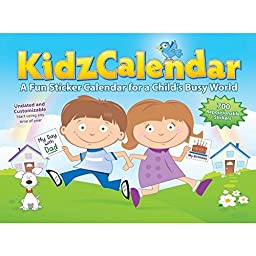 KidzCalendar Create Monthly Activity Undated Customizable Calendar for Kids