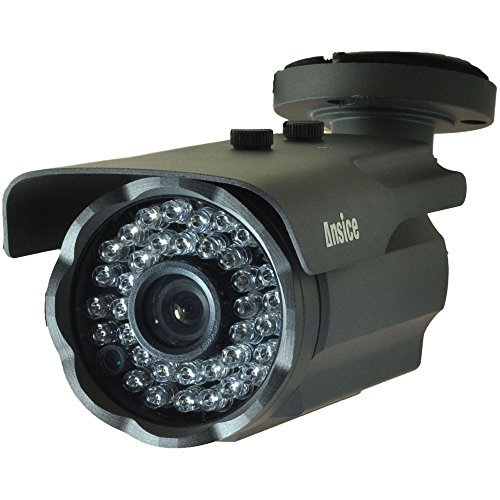 Bullet Security CCTV Camera(black) Wide Angle 2.8mm 1000TVL CMOS With IR-CUT Home Surveillance Outdoor IR Bullet Day Night Vision 36 Infrared LEDs waterproof by ansice (Bullet 1000tvl compare prices)
