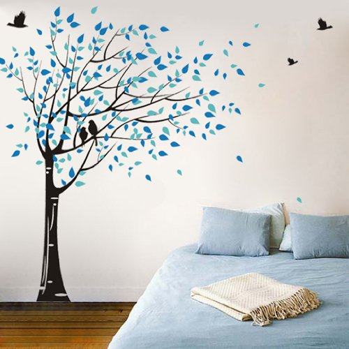 Popdecors - Gone with the Wind Custom Beautiful Tree Wall Decals for Kids Rooms Teen Girls Boys Wallpaper Murals Sticker Wall Stickers Nursery Decor Nursery Decals Pt-0049