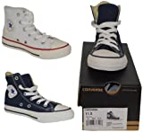 NEW JUNIOR CONVERSE ALL STAR CHUCK TAYLOR UNISEX-CHILD LACE-UP HI TOP TRAINERS