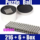 216 Ct + 6 Extra Magnet Balls Original Edition Magnetic Earth Magnet Puzzle in Collector's Tin Contains 6 More Balls Than Buckyballs, Neocube, Cybercube, Groovyballs