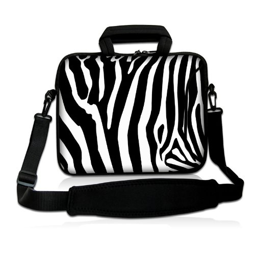 "17"" 17.3"" 17.4"" Inch Zebra Stripe Design Neoprene Notebook Laptop Soft Bag Sleeve Case Cover Pouch With Adjustable Shoulder Strap For Apple Macbook Pro 17 /Hp Envy 17 Series/ Pavilion Dv7/Dv7T/G72/G72T/G7T/M7 Series / Dell Inspiron 17 17R I17Rm I17Rv Xps front-381629"