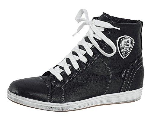 Sneaker in pelle nappa bovina IXS strada nero