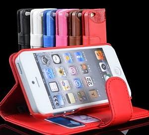 高級感あふれるiPhone5専用ケース!新型 iPhone5専用 ワニ サメ皮 クロコダイルレザー風 お洒落 ケース MI-i5book (ピンク)