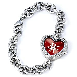 NBA Ladies BH-HOU Heart Collection Houston Rockets Watch by Game Time