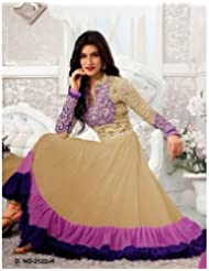 RadadiyaTRD Chiku Color Faux Georgette Embroidered Dress Material (Unstitched)