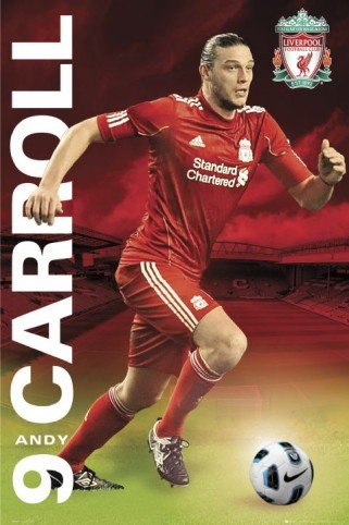 Posters: Soccer Poster – Liverpool FC, Andy Carrol 11/12 (36 x 24 inches)