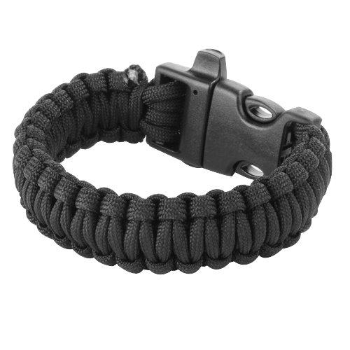 23cm-Bracelet-Paracord-Bracelet-de-Survie-Corde-de-Parachute-avec-Boucle-Plastique-Noir