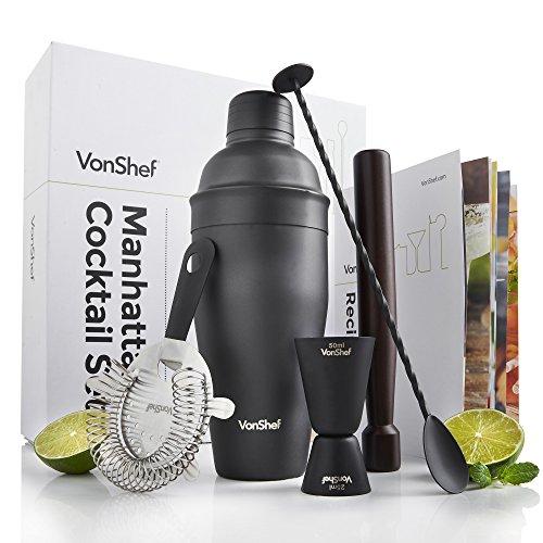 vonshef-luxury-matte-black-manhattan-cocktail-set-stainless-steel-in-a-gift-box-free-2-year-warranty