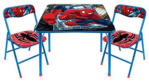 Marvel-Spider-Man-3-Piece-Table-and-Chair-Set