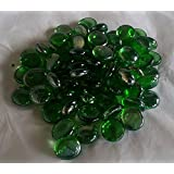 250g(approx 57) Decorative Round Emerald Glass Pebbles..15-20mm