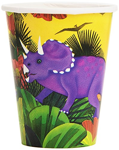Prehistoric Dinosaurs Birthday Party Cups, 9 oz, Multi