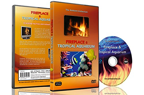 アンビエントDVD - 暖炉と熱帯水族館 - 2時間のHDビデオ ムード - 25分のエンドレス テープ