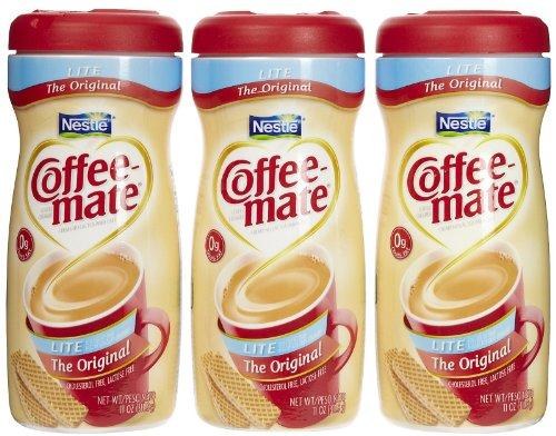 Coffee-Mate Lite Powdered Creamer Canisters-Original, 11 Oz, 3 Pk