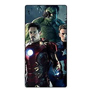 Jugaaduu Super Heroes Avengers Age of Ultron Back Cover Case For Sony Xperia M2 Dual
