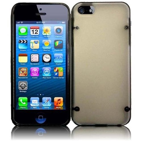 Hr Wireless Point Protective Carrying Case With Premium Pc Plus Tpu For Iphone 5/5S - Retail Packaging - Black