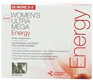 GNC Women's Ultra Mega Energy Vitapak 30 Packs