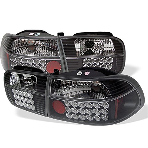 Spyder Honda Civic 92-95 2/4DR LED Tail Lights - Black (Honda Civic 92 95 Headlights compare prices)