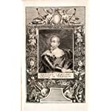 1721 Copper Engraving Portrait King Gustavus Adolphus Magnus Sweden Gustav II - Original Copper Engraving