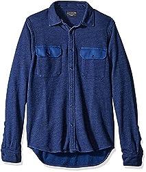 Goodlife Men's Shirt Jacket, Goodlife Navy, Large
