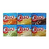 ジェロー インスタントプディング&パイフィリングミックス 6種類セット  Jell-O Instant Reduced Calorie Pudding & Pie Filling Sugar Free・Fat Free