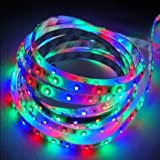 Anker Filite 5 Meter DC12V 24 Watt 300 Leds Flexible Ribbon Waterproof 16.4Ft 3528 SMD Led Strip Light Blue - Seasonal Celebration Lighting