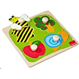 Jumbo D53010 - Holzpuzzle Biene, Apfelbaum und Schnecke 4 Teile