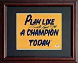 Rudy Ruettiger PSA/DNA Signed 8x10 Framed Notre Dame Play Like a Champion Today Football Sign
