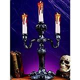"14"" LED Haunted Mansion Candelabra Decoration"