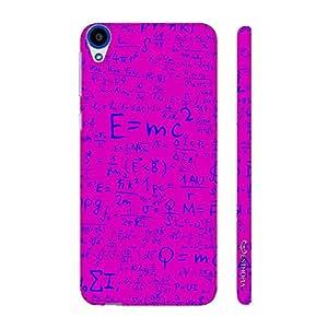 Enthopia Designer Hardshell Case Einstein Energy Pink Back Cover for HTC Desire 820