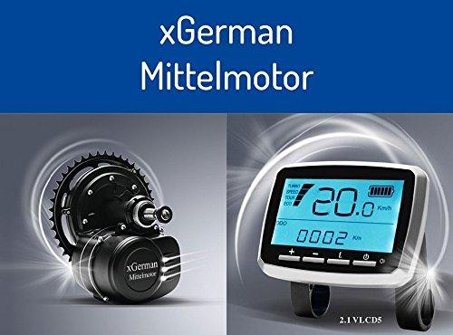 xGerman Nachrüstsatz Mittelmotor-Antrieb 250W/36V mit Akku 11,6Ah