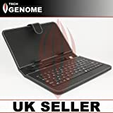 7 inch micro USB universal tablet keyboard case Lenovo IdeaTab A1000 black