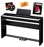 Casio Privia PX-150 88-Key Digital Piano Bundle with Casio CS-67 Furniture-Style Stand, Casio SP-33 3-Pedal System, Hal Leonard Instructional Book, and Austin Bazaar Polishing Cloth - Black
