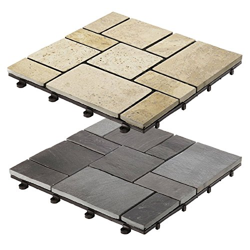 casa-pura-interlocking-garden-terrace-decking-flagstone-paving-black-8-tiles-30x30cm-multiple-tile-s