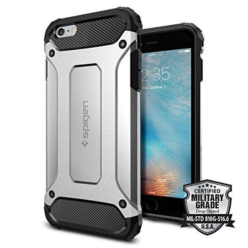Spigen iPhone6s Plus / iPhone6 Plus ケース, タフ・アーマー  テック [ エアクッションテクノロジー ] アイフォン6s / 6 用 米軍MIL規格取得 耐衝撃カバー (サテン・シルバー SGP11748)