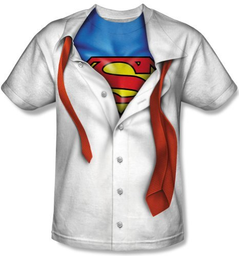 New Official I'm Superman Suit Tie Costume Logo T-Shirt X-Large white