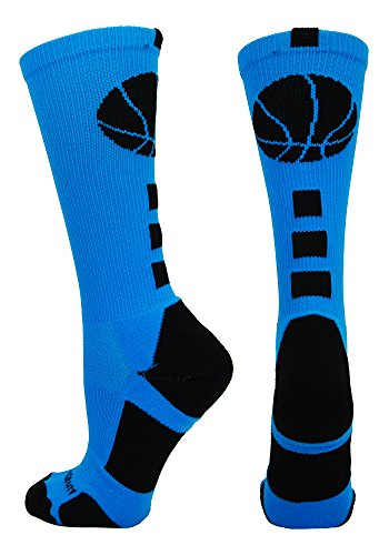 Basketball Logo Crew Socks (Electric Blue/Black, Small) (Kobe Shoes Kids compare prices)