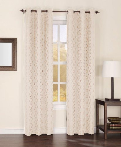 60-Inch by 12-Inch White American Curtain and Home Deanna Window Treatment Valance