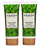Vaadi Herbals Anti Acne Neem Face Pack with Clove and Turmeric, 120gm x 2