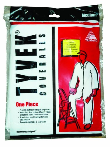 Trimaco Painter's Tyvek HD Heavy-Duty Coveralls, White, Medium,14121