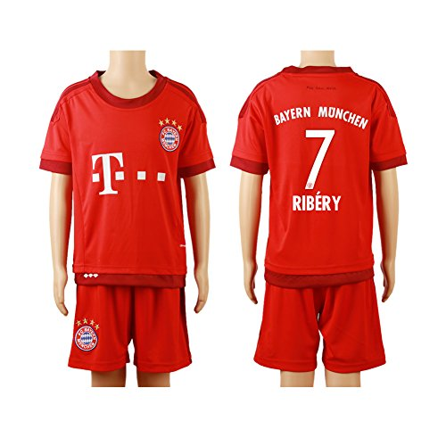 2015-2016-7-red-home-kids-youth-football-soccer-jersey-short-kit-set