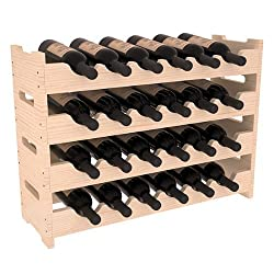 Wine Racks America Ponderosa Pine 24 Bottle Mini Scallop. 13 Stains to Choose From!