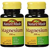 Nature Made - Magnesium 250 mg, 200 Tablets