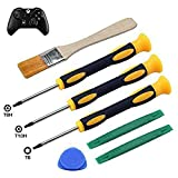 T8H T6 T10H Screwdriver Set for Xbox One Xbox 360 Controller and PS3 PS4, Safe Prying Tool and Cleaning Brush