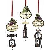 Kurt Adler 5-1/2-Inch Tuscan Antique Bottle Opener Ornaments, Set of 3