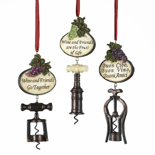 Kurt Adler Tuscan Corkscrew Ornaments