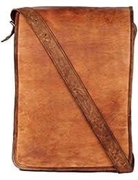 Prajals House Genuine Leather Side Bag Cum Messenger For Men & Women Bag Size (L) 10 (H) 13 (W) 4